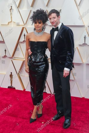 Zazie Beetz and David Rysdahl arrive during the 92nd annual Academy Awards ceremony at the Dolby Theatre in Hollywood, California, USA, 09 February 2020. The Oscars are presented for outstanding individual or collective efforts in filmmaking in 24 categories.