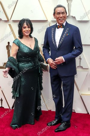 Stock Image of Wes Studi (R) and wife Maura Dhu Studi arrives during the 92nd annual Academy Awards ceremony at the Dolby Theatre in Hollywood, California, USA, 09 February 2020. The Oscars are presented for outstanding individual or collective efforts in filmmaking in 24 categories.