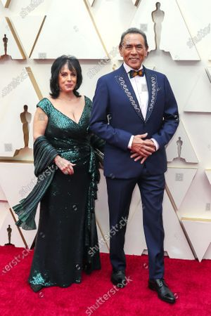 Wes Studi (R) and wife Maura Dhu Studi arrives during the 92nd annual Academy Awards ceremony at the Dolby Theatre in Hollywood, California, USA, 09 February 2020. The Oscars are presented for outstanding individual or collective efforts in filmmaking in 24 categories.