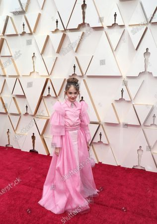 Julia Butters arrives for the 92nd annual Academy Awards ceremony at the Dolby Theatre in Hollywood, California, USA, 09 February 2020. The Oscars are presented for outstanding individual or collective efforts in filmmaking in 24 categories.