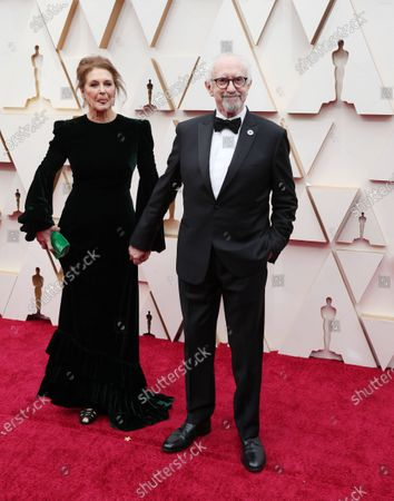 Jonathan Pryce and Kate Fahy arrive for the 92nd annual Academy Awards ceremony at the Dolby Theatre in Hollywood, California, USA, 09 February 2020. The Oscars are presented for outstanding individual or collective efforts in filmmaking in 24 categories.