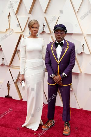 Spike Lee (R) and his wife Tonya Lewis Lee arrive for the 92nd annual Academy Awards ceremony at the Dolby Theatre in Hollywood, California, USA, 09 February 2020. The Oscars are presented for outstanding individual or collective efforts in filmmaking in 24 categories.