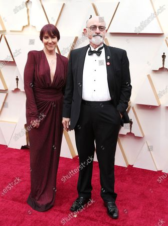 Stock Image of Mark Ulano (R) and guest arrive for the 92nd annual Academy Awards ceremony at the Dolby Theatre in Hollywood, California, USA, 09 February 2020. The Oscars are presented for outstanding individual or collective efforts in filmmaking in 24 categories.