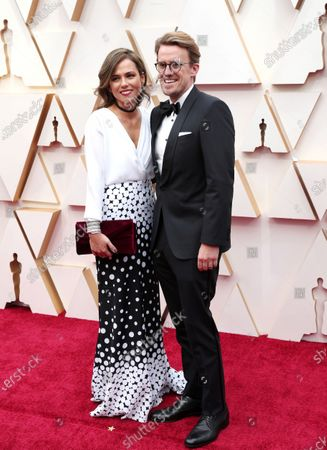 Andrew R. Jones (R) and guest arrive for the 92nd annual Academy Awards ceremony at the Dolby Theatre in Hollywood, California, USA, 09 February 2020. The Oscars are presented for outstanding individual or collective efforts in filmmaking in 24 categories.