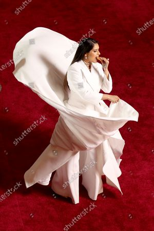 Lilly Singh arrives for the 92nd annual Academy Awards ceremony at the Dolby Theatre in Hollywood, California, USA, 09 February 2020. The Oscars are presented for outstanding individual or collective efforts in filmmaking in 24 categories.