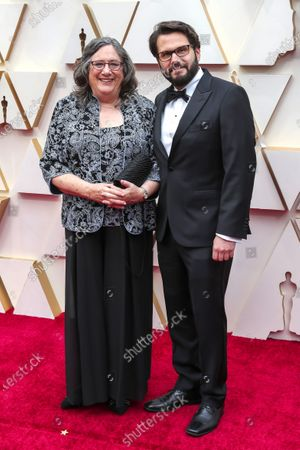 Stock Image of Adam Valdez (R) and guest arrive for the 92nd annual Academy Awards ceremony at the Dolby Theatre in Hollywood, California, USA, 09 February 2020. The Oscars are presented for outstanding individual or collective efforts in filmmaking in 24 categories.