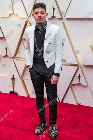 Anthony Ramos arrives for the 92nd annual Academy Awards ceremony at the Dolby Theatre in Hollywood, California, USA, 09 February 2020. The Oscars are presented for outstanding individual or collective efforts in filmmaking in 24 categories.