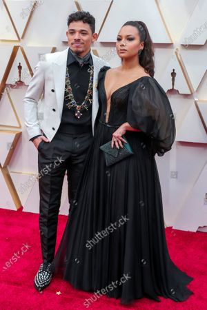 Anthony Ramos (L) and his wife Jasmine Cephas Jones arrive for the 92nd annual Academy Awards ceremony at the Dolby Theatre in Hollywood, California, USA, 09 February 2020. The Oscars are presented for outstanding individual or collective efforts in filmmaking in 24 categories.