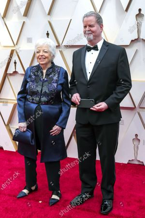 "Nominee for Best Film Editing for ""The Irishman"" Thelma Schoonmaker (L) and guest arrive for the 92nd annual Academy Awards ceremony at the Dolby Theatre in Hollywood, California, USA, 09 February 2020. The Oscars are presented for outstanding individual or collective efforts in filmmaking in 24 categories."