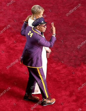 Spike Lee and his wife Tonya Lewis Lee arrive for the 92nd annual Academy Awards ceremony at the Dolby Theatre in Hollywood, California, USA, 09 February 2020. The Oscars are presented for outstanding individual or collective efforts in filmmaking in 24 categories.