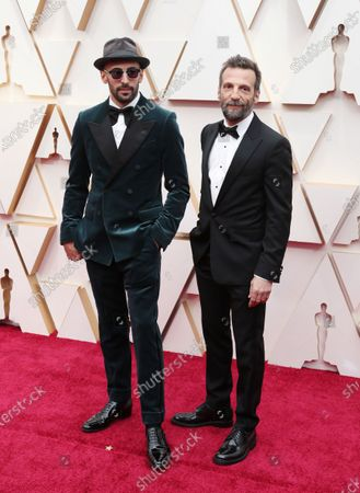 JR (L) and Mathieu Kassovitz (R) arrive for the 92nd annual Academy Awards ceremony at the Dolby Theatre in Hollywood, California, USA, 09 February 2020. The Oscars are presented for outstanding individual or collective efforts in filmmaking in 24 categories.