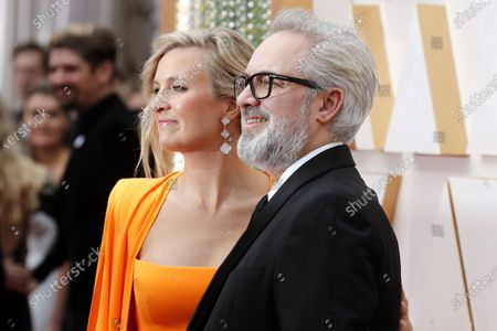 Sam Mendes and Alison Balsom arrive for the 92nd annual Academy Awards ceremony at the Dolby Theatre in Hollywood, California, USA, 09 February 2020. The Oscars are presented for outstanding individual or collective efforts in filmmaking in 24 categories.