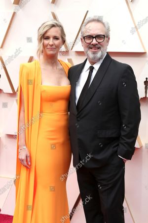 Stock Image of Sam Mendes and Alison Balsom arrive for the 92nd annual Academy Awards ceremony at the Dolby Theatre in Hollywood, California, USA, 09 February 2020. The Oscars are presented for outstanding individual or collective efforts in filmmaking in 24 categories.