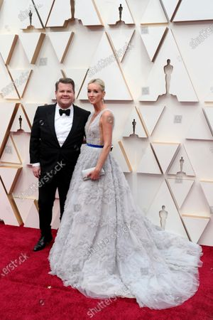 James Corden (L) and Julia Carey arrive for the 92nd annual Academy Awards ceremony at the Dolby Theatre in Hollywood, California, USA, 09 February 2020. The Oscars are presented for outstanding individual or collective efforts in filmmaking in 24 categories.