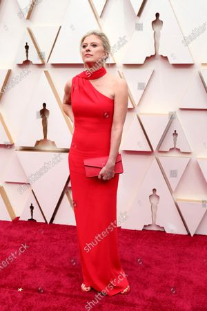Stock Image of Jenno Topping arrives for the 92nd annual Academy Awards ceremony at the Dolby Theatre in Hollywood, California, USA, 09 February 2020. The Oscars are presented for outstanding individual or collective efforts in filmmaking in 24 categories.