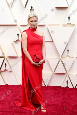 Stock Picture of Jenno Topping arrives for the 92nd annual Academy Awards ceremony at the Dolby Theatre in Hollywood, California, USA, 09 February 2020. The Oscars are presented for outstanding individual or collective efforts in filmmaking in 24 categories.