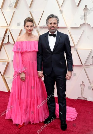 Sunrise Coigney (L) and Mark Ruffalo arrive for the 92nd annual Academy Awards ceremony at the Dolby Theatre in Hollywood, California, USA, 09 February 2020. The Oscars are presented for outstanding individual or collective efforts in filmmaking in 24 categories.