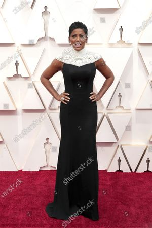 Tamron Hall arrives for the 92nd annual Academy Awards ceremony at the Dolby Theatre in Hollywood, California, USA, 09 February 2020. The Oscars are presented for outstanding individual or collective efforts in filmmaking in 24 categories.