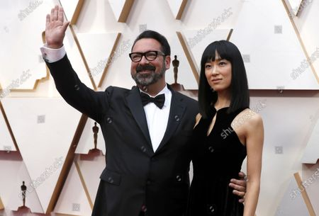 Stock Image of James Mangold (L) and guest arrive for the 92nd annual Academy Awards ceremony at the Dolby Theatre in Hollywood, California, USA, 09 February 2020. The Oscars are presented for outstanding individual or collective efforts in filmmaking in 24 categories.