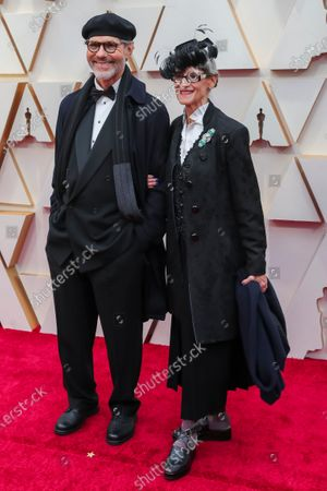 Dennis Gassner (L) and guest arrive for the 92nd annual Academy Awards ceremony at the Dolby Theatre in Hollywood, California, USA, 09 February 2020. The Oscars are presented for outstanding individual or collective efforts in filmmaking in 24 categories.