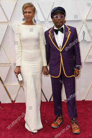 Tonya Lewis Lee, Spike Lee. Tonya Lewis Lee, left, and Spike Lee arrive at the Oscars, at the Dolby Theatre in Los Angeles