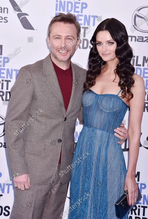 Chris Hardwick and Lydia Hearst-Shaw