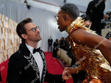 Billy Porter, Brad Goreski. Brad Goreski, left, and Billy Porter chat on the red carpet at the Oscars, at the Dolby Theatre in Los Angeles