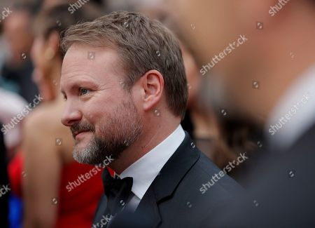 Rian Johnson arrives at the Oscars, at the Dolby Theatre in Los Angeles