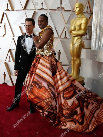 Billy Porter, Brad Goreski. Brad Goreski, left, and Billy Porter arrive at the Oscars, at the Dolby Theatre in Los Angeles