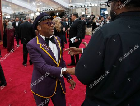 Spike Lee, Questlove. Spike Lee, left, and Questlove arrive at the Oscars, at the Dolby Theatre in Los Angeles