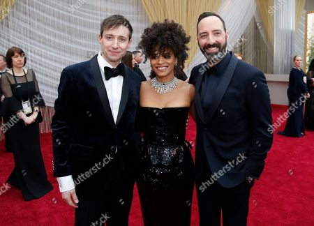 Stock Photo of Zazie Beetz, David Rysdahl, Tony Hale. David Rysdahl, from left, Zazie Beetz and Tony Hale arrive at the Oscars, at the Dolby Theatre in Los Angeles