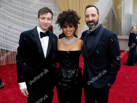 Zazie Beetz, David Rysdahl, Tony Hale. David Rysdahl, from left, Zazie Beetz and Tony Hale arrive at the Oscars, at the Dolby Theatre in Los Angeles