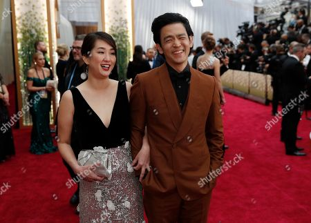 Stock Picture of Kerri Higuchi, John Cho. Kerri Higuchi, left, and John Cho arrive at the Oscars, at the Dolby Theatre in Los Angeles