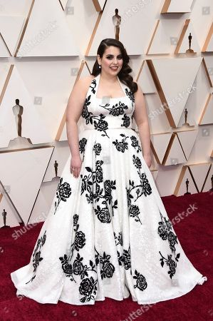 Beanie Feldstein arrives at the Oscars, at the Dolby Theatre in Los Angeles