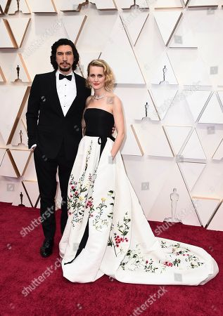 Adam Driver, Joanne Tucker. Adam Driver, left, and Joanne Tucker arrive at the Oscars, at the Dolby Theatre in Los Angeles