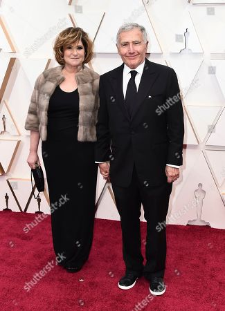 Amy Pascal, Bernard Weinraub. Amy Pascal, left, and Bernard Weinraub arrive at the Oscars, at the Dolby Theatre in Los Angeles
