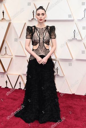 Rooney Mara arrives at the Oscars, at the Dolby Theatre in Los Angeles