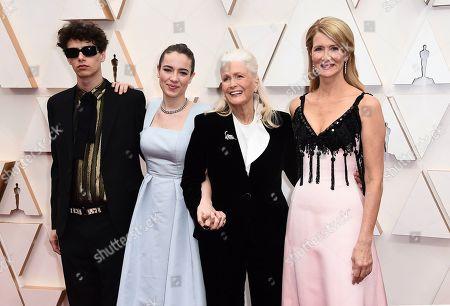 Ellery Harper, Jaya Harper, Diane Ladd, Laura Dern. Ellery Harper, from left, Jaya Harper, Diane Ladd, and Laura Dern arrive at the Oscars, at the Dolby Theatre in Los Angeles