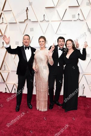 Tom Hanks, Rita Wilson, Truman Hanks, Elizabeth Hanks. Tom Hanks, from left, Rita Wilson, Truman Hanks, and Elizabeth Hanks arrive at the Oscars, at the Dolby Theatre in Los Angeles