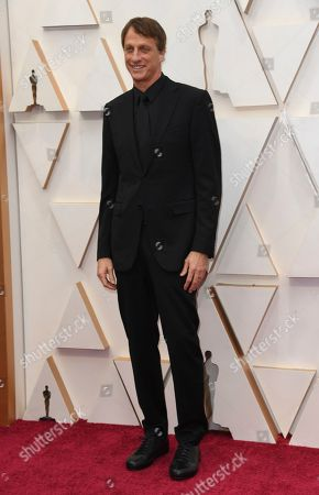 Tony Hawk arrives at the Oscars, at the Dolby Theatre in Los Angeles
