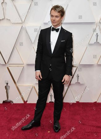 Alfie Allen arrives at the Oscars, at the Dolby Theatre in Los Angeles