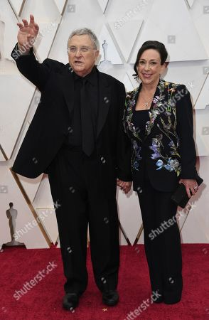 Randy Newman, Gretchen Preece. Randy Newman, left, and Gretchen Preece arrive at the Oscars, at the Dolby Theatre in Los Angeles