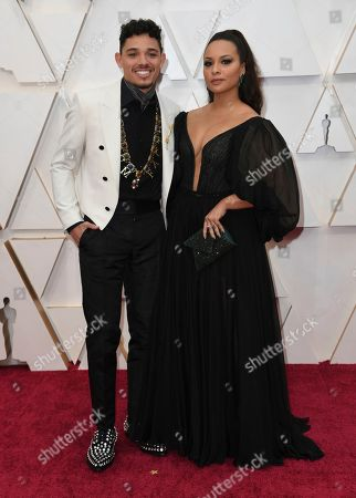 Stock Image of Anthony Ramos, Jasmine Cephas Jones. Anthony Ramos, left, and Jasmine Cephas Jones arrive at the Oscars, at the Dolby Theatre in Los Angeles