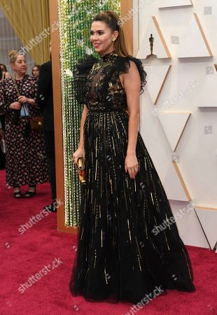 Carly Steel arrives at the Oscars, at the Dolby Theatre in Los Angeles