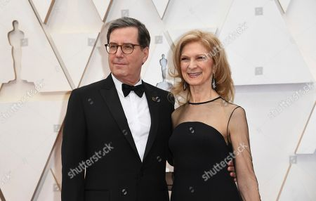 Stock Picture of David Rubin, Dawn Hudson. David Rubin, President of the Academy of Motion Picture Arts and Sciences, left, and Dawn Hudson, Chief Executive Officer of the Academy of Motion Picture Arts and Sciences, arrive at the Oscars, at the Dolby Theatre in Los Angeles