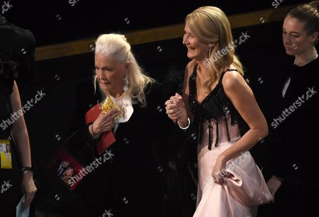 Diane Ladd, Laura Dern. Diane Ladd, left, and Laura Dern appear in the audience at the Oscars, at the Dolby Theatre in Los Angeles