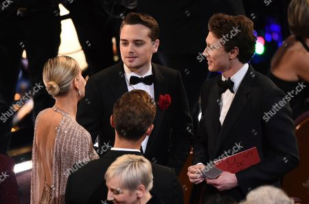 Brie Larson, George MacKay, Dean-Charles Chapman. Brie Larson, from left, Dean-Charles Chapman and George MacKay appear in the audience at the Oscars, at the Dolby Theatre in Los Angeles