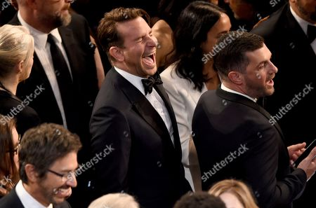 Bradley Cooper, XX. Bradley Cooper appears in the audience at the Oscars, at the Dolby Theatre in Los Angeles