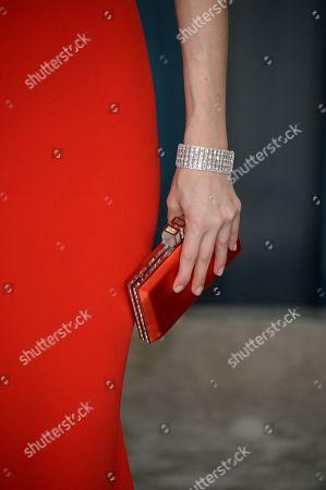 Whitney Cummings, jewellery detail, bag detail