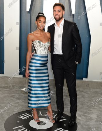 Stock Photo of Laura Harrier and Klay Thompson